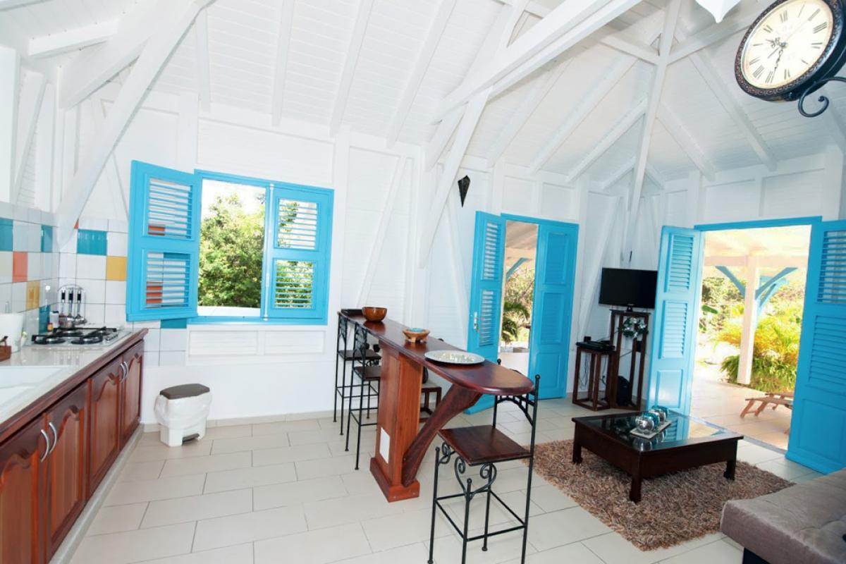Villa de charme à Marie Galante - Le séjour cuisine