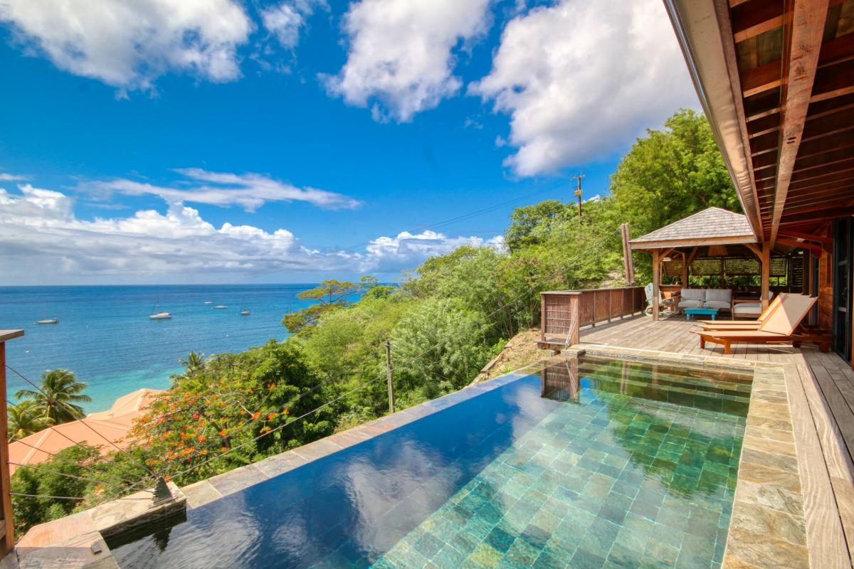 location villa de luxe martinique grande anse vue mer piscine 12 personnes vue piscine 1