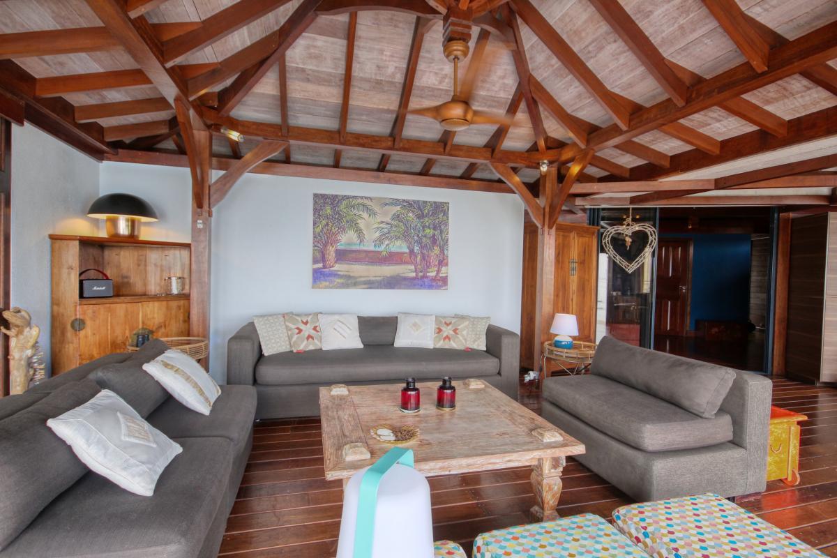 location villa de luxe martinique grande anse vue mer piscine 12 personnes salon
