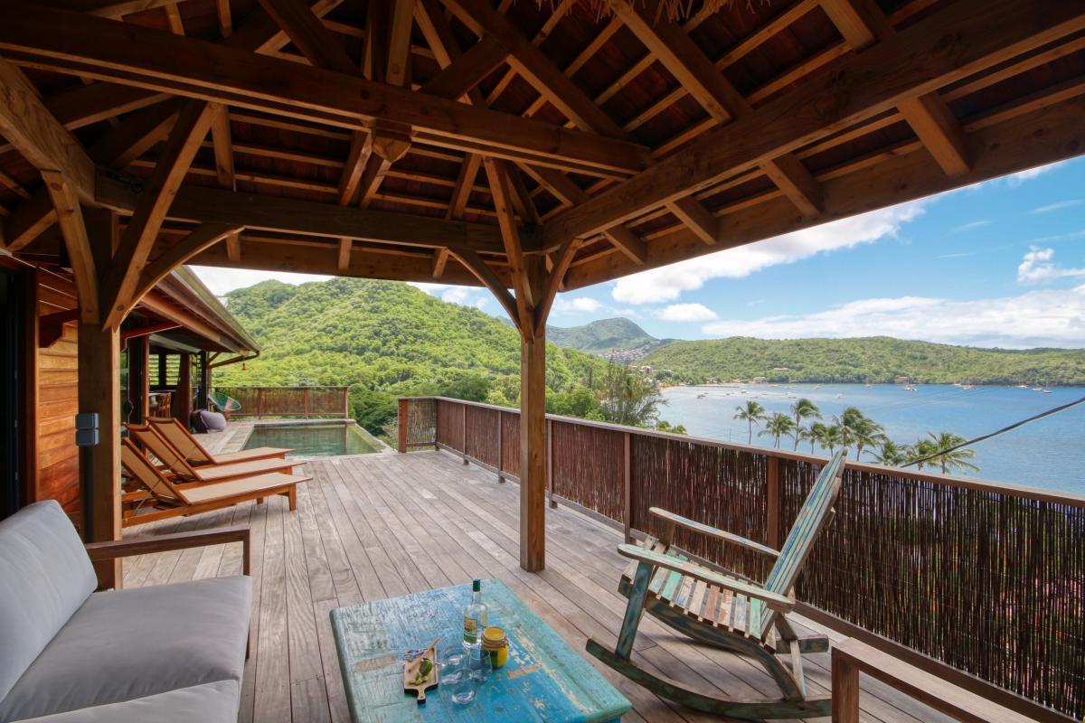 location villa de luxe martinique grande anse vue mer piscine 12 personnes terrasse2
