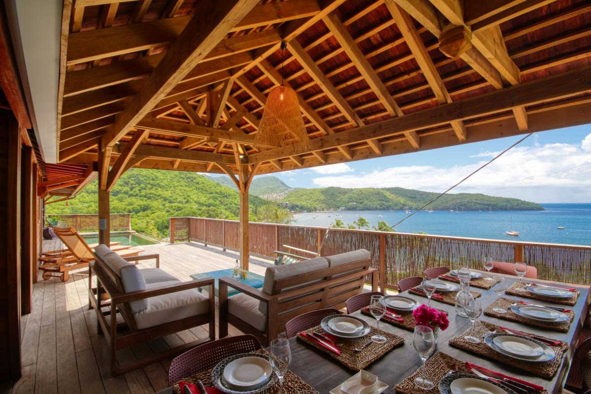 location villa de luxe martinique grande anse vue mer piscine 12 personnes terrasse3