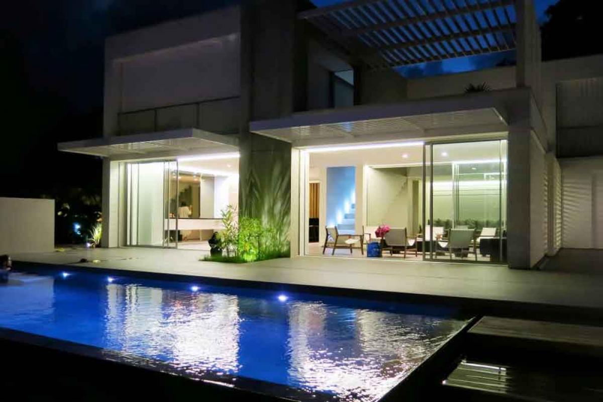 Photo villa luxe Martinique - Vue de nuit