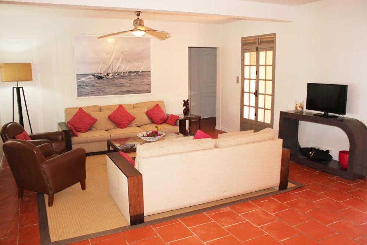 Belle villa Martinique- Le séjour