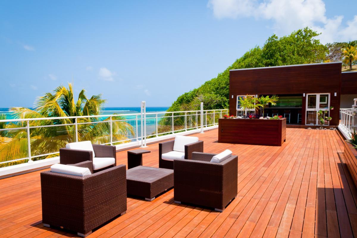 Location villa de grand luxe Martinique terrasse principale