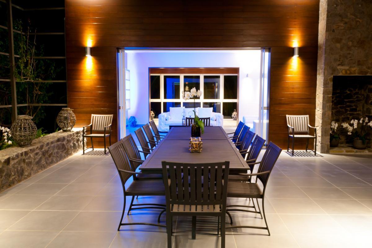 Villa grand luxe Martinique table nuit