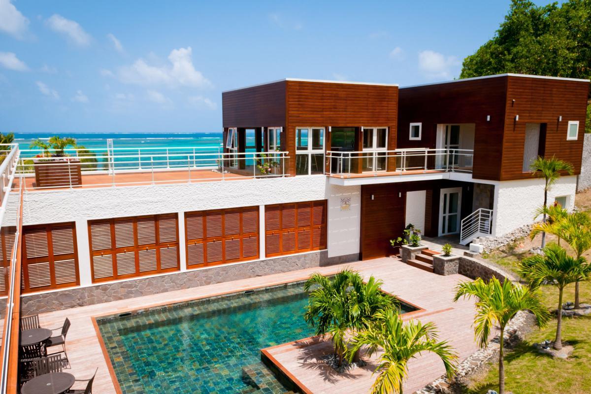 Villa grand luxe Martinique Vue d'ensemble haut