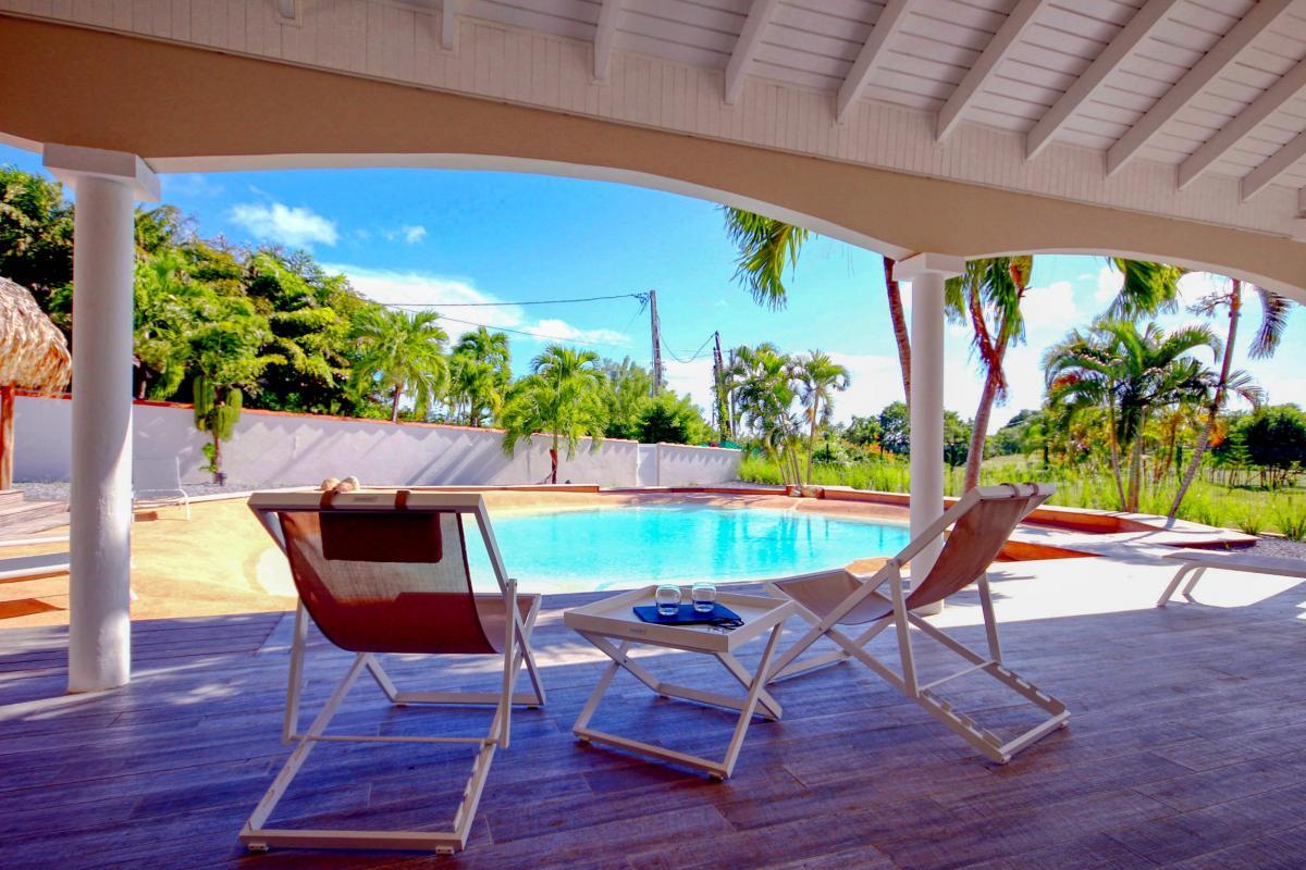 Location villa de luxe au François Martinique  rez de jardin