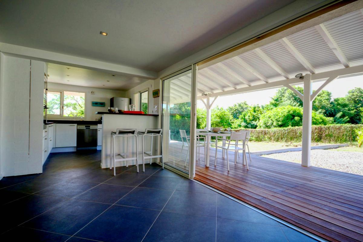 Location villa de luxe au François Martinique terrasse rez de jardin
