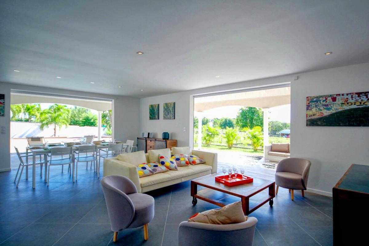 Location Villa de luxe Martinique Vue séjour
