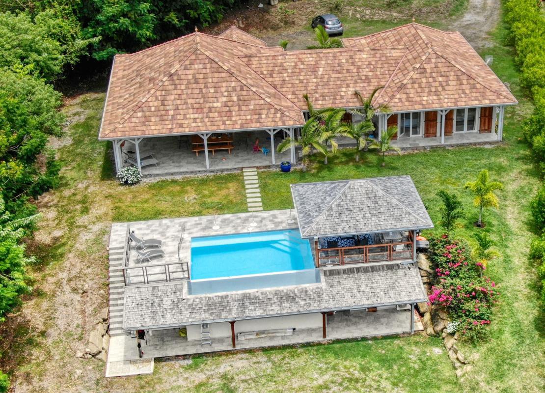 Location villa de luxe au Francois Martinique - vue drone