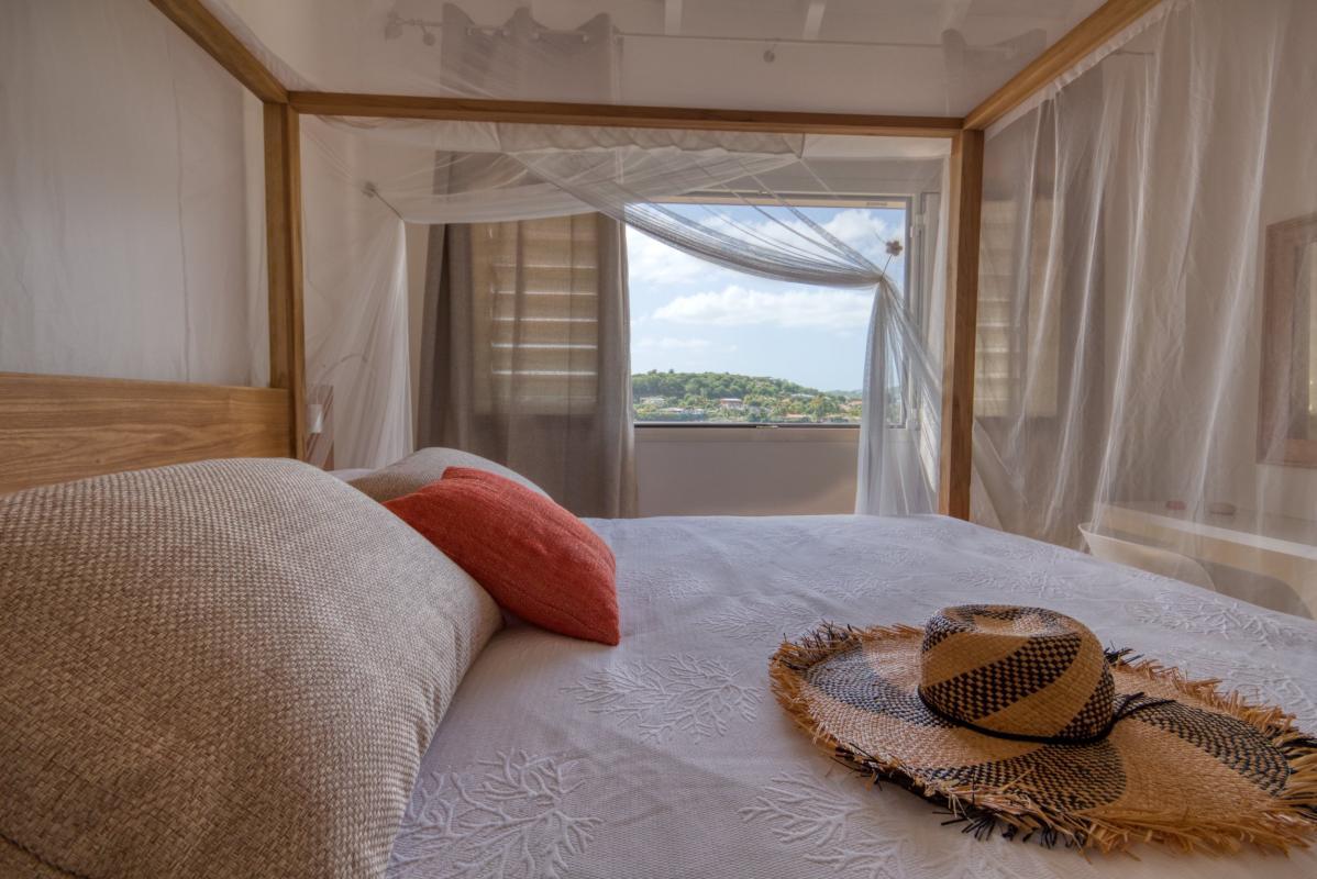 Location villa de luxe martinique au cap est - chambre étage 1 vue 2