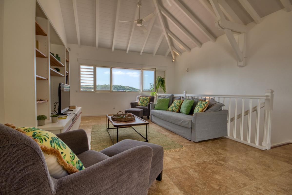 Location villa de luxe martinique au cap est - salon étage