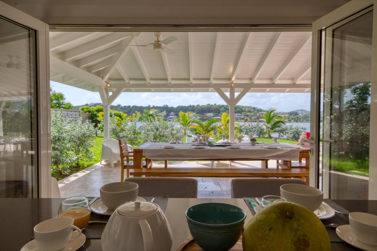 Location villa de luxe martinique cuisine vue mer
