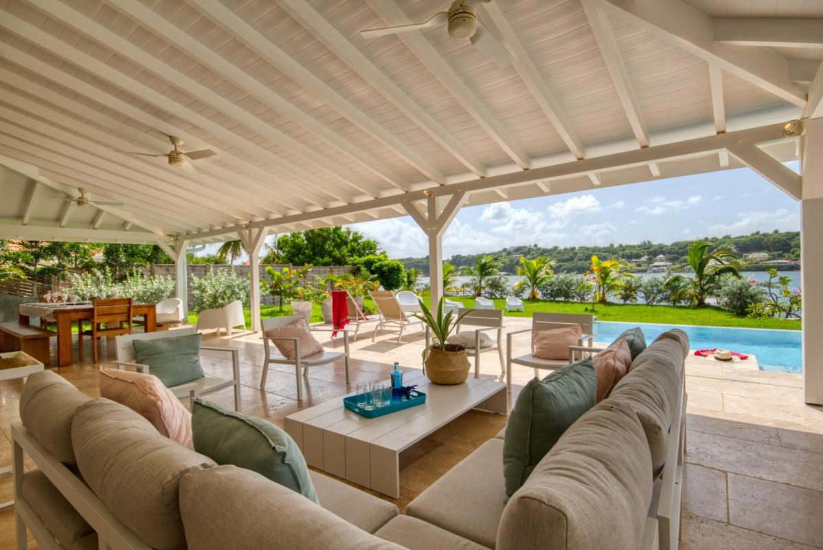 Location villa de luxe martinique salon terrasse vue mer