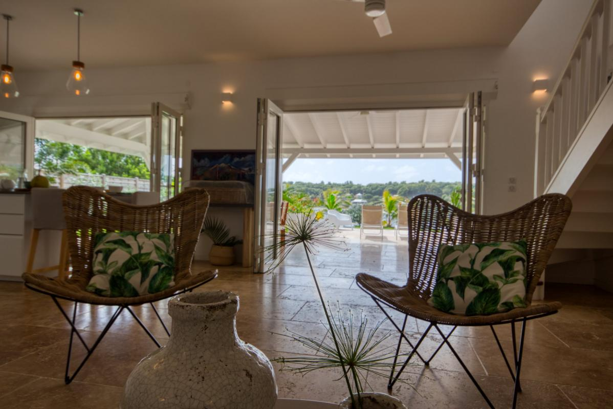 Location villa de luxe martinique séjour rez de chaussée vue mer