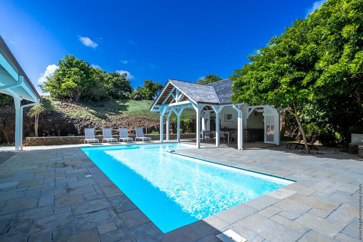 location villa de luxe avec carbet et piscine vue 3