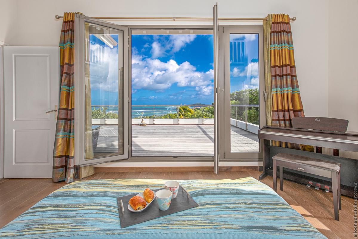 location villa de luxe martinique chambre 1 vue 2