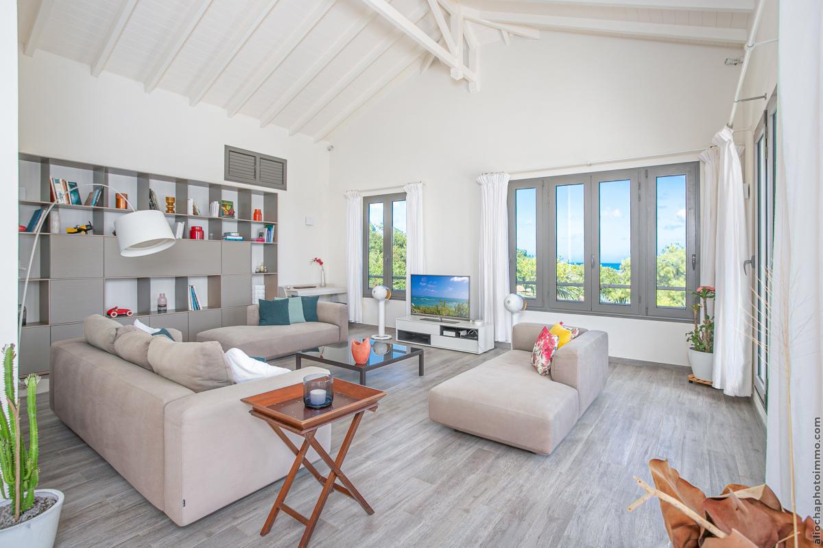 location villa de luxe martinique salon étage vue 2