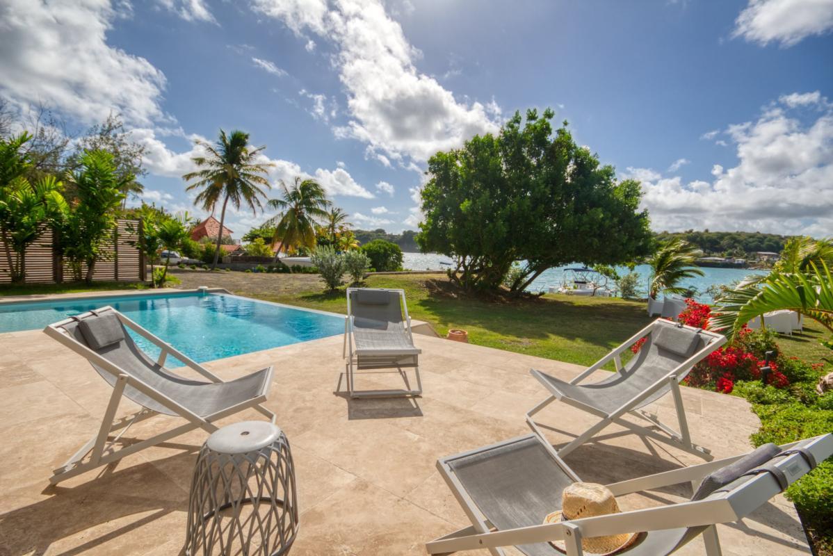 location villa de luxe martinique terrasse avec vue mer