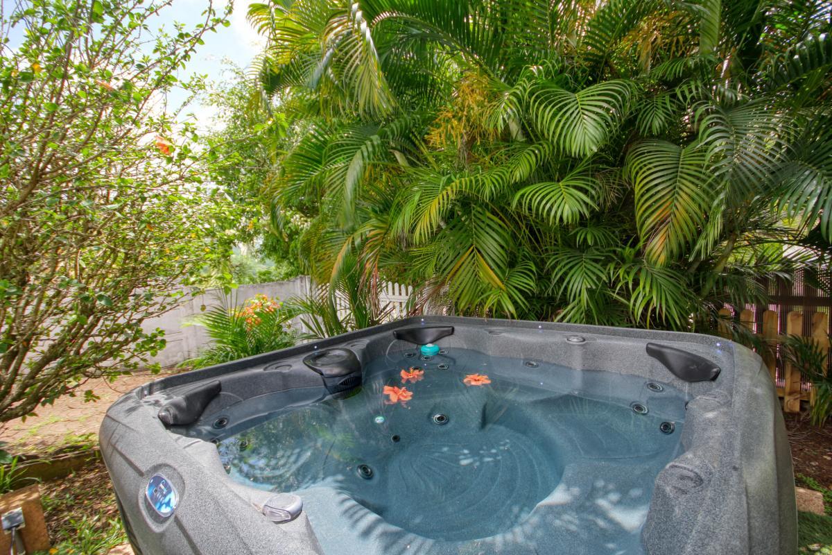 location villa Martinique 9 personnes au Marin avec piscine et Jacuzzi - vue jaccuzi3