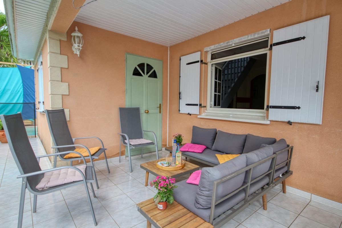 location villa Martinique 9 personnes au Marin avec piscine et Jacuzzi - vue terrasse