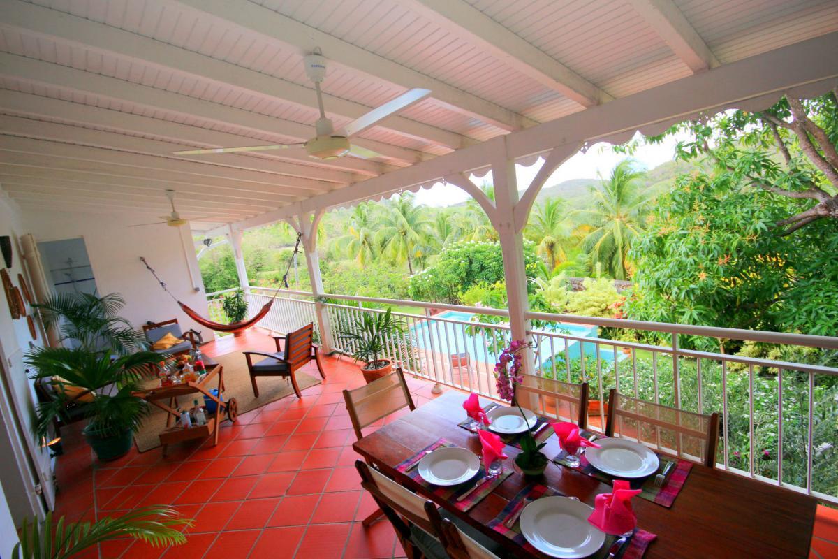 Location Martinique - Sainte Anne - vue terrasse