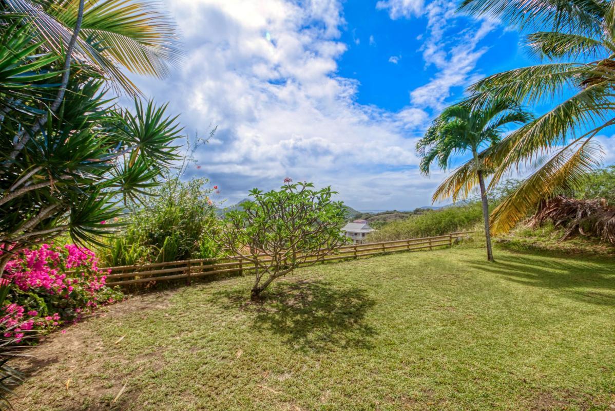 location villa de standing 12 personnes avec piscine à Sainte Anne Martinique jardin