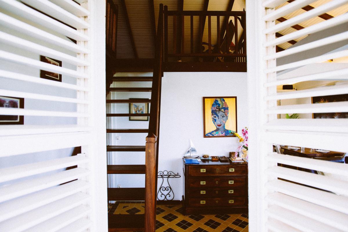 MQVA01 Location villa Martinique au Vauclin - Extérieur villa Entrée