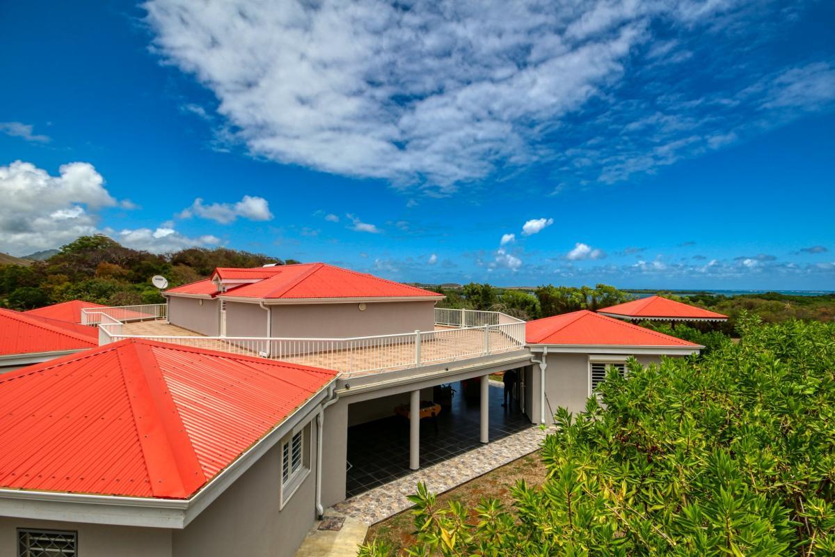 Location villa martinique avec jardin et vue