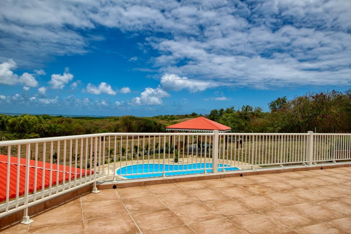 Location Villa Martinique terrasse avec vue dégagée