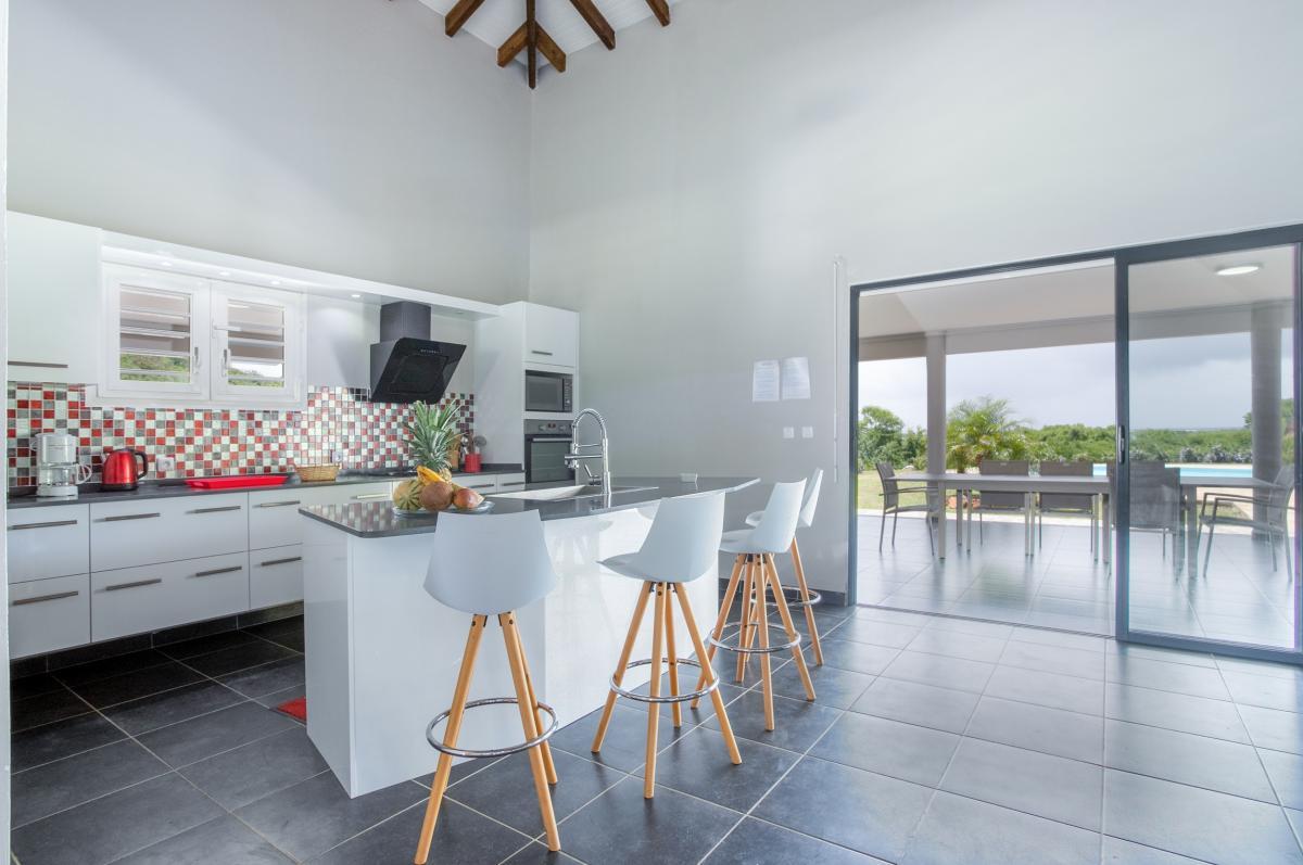 Villa Martinique cuisine ouverte