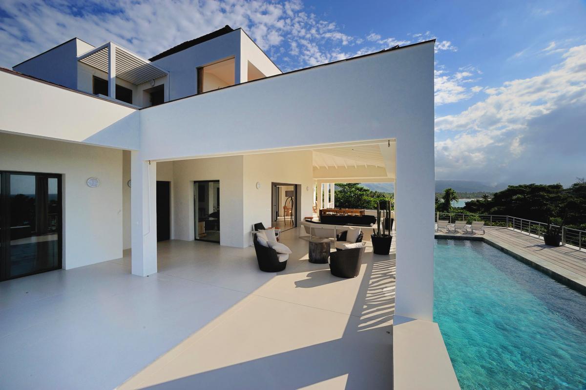 Location villa Las Terrenas - La terrasse avec piscine