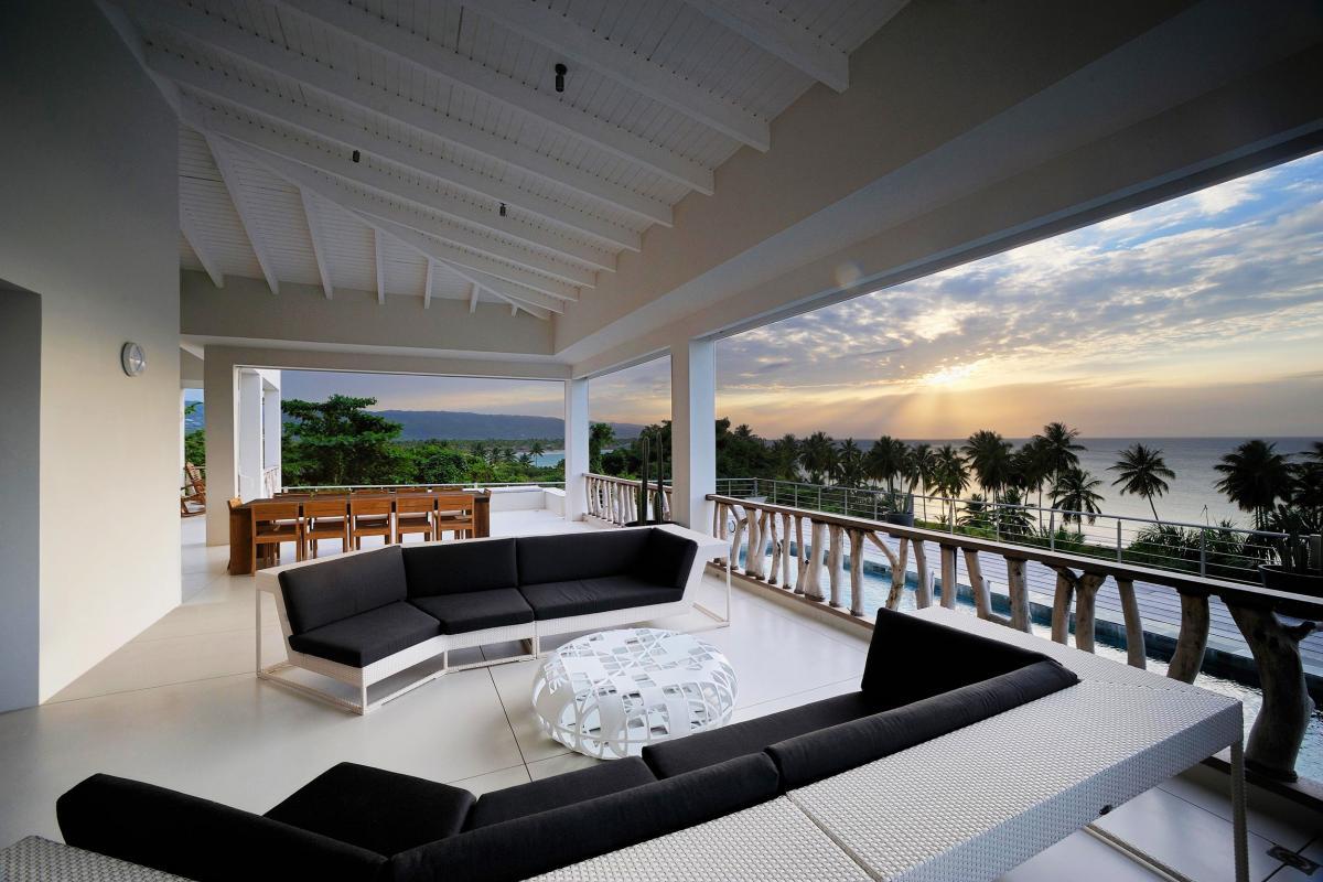 Location villa Las Terrenas - La terrasse