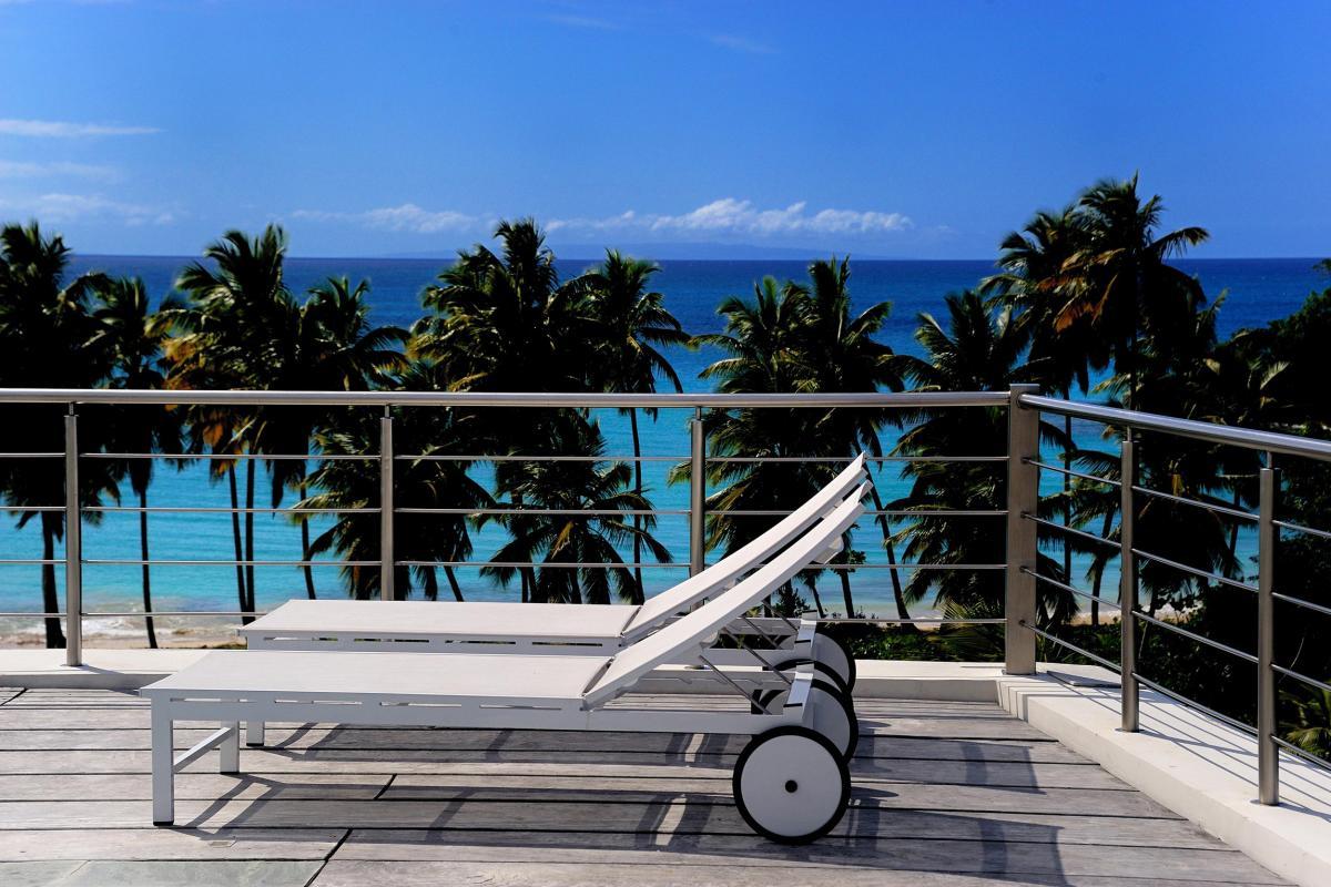Location villa Las Terrenas - Les bains de soleil avec vue mer