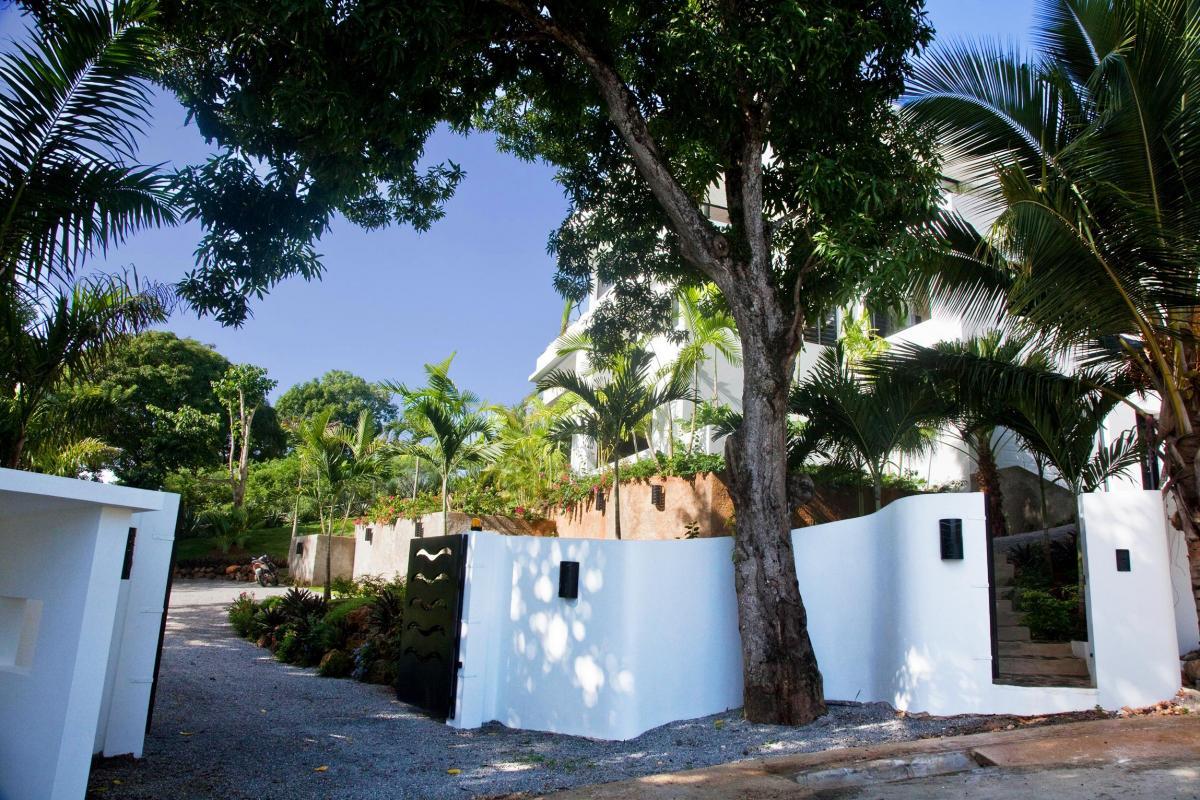 Location villa Las Terrenas - L'entrée de la villa