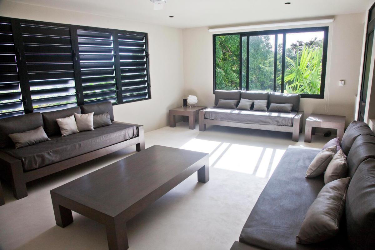 Location villa Las Terrenas - La chambre du niveau inférieur