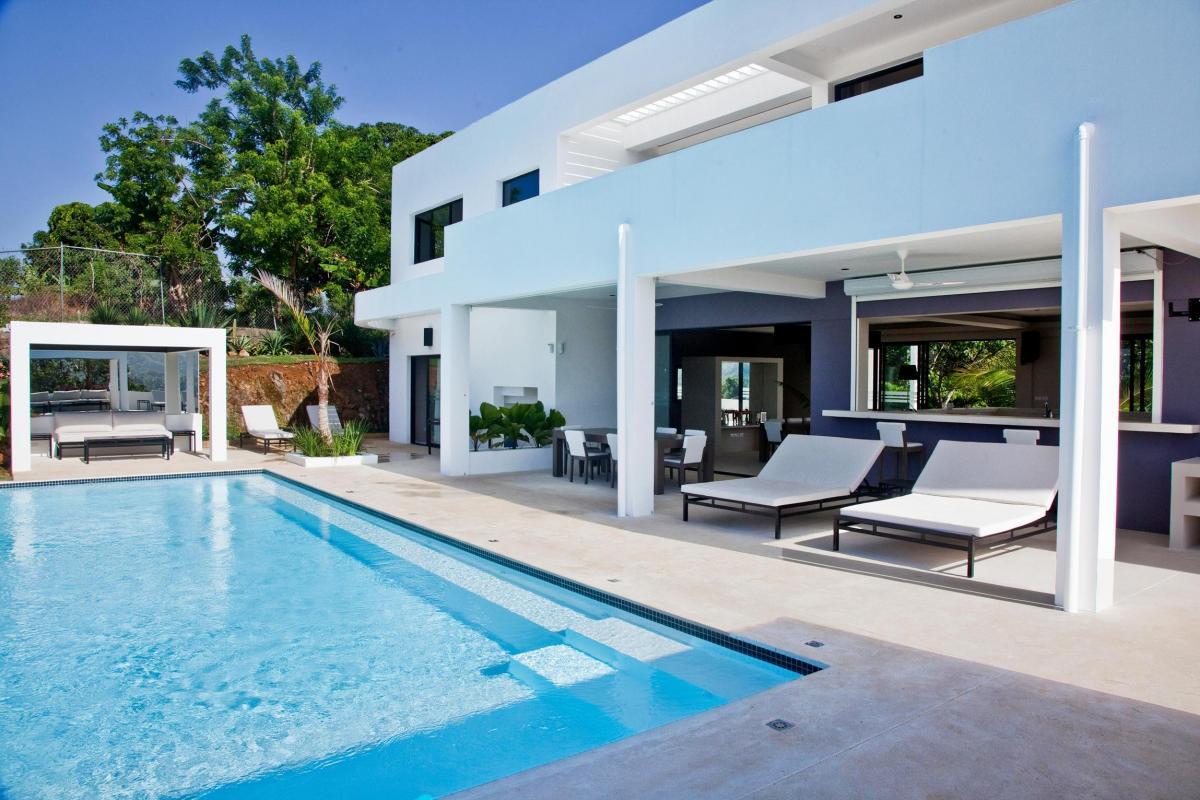 Location villa Las Terrenas - La piscine et sa terrasse