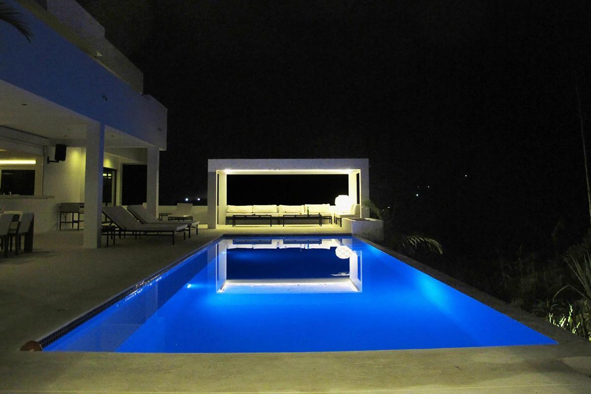 Location villa Las Terrenas - La piscine la nuit