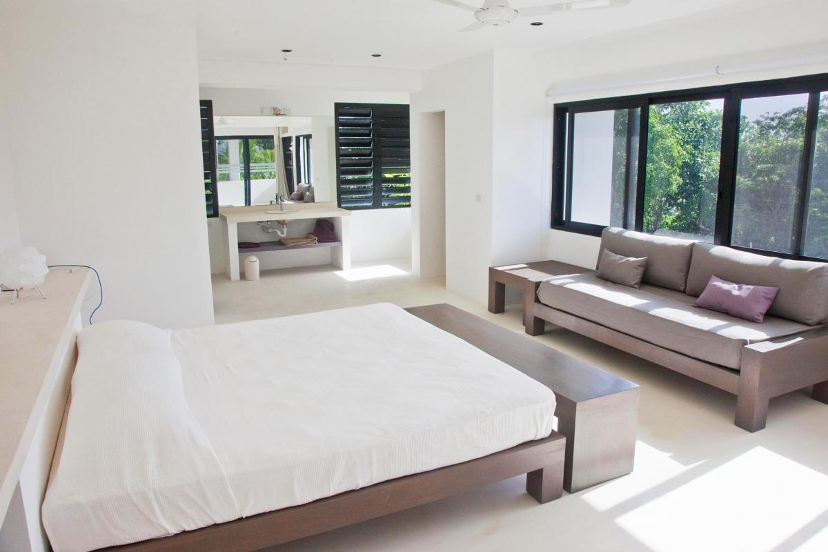 Location villa Las Terrenas - La suite Junior du niveau inferieur