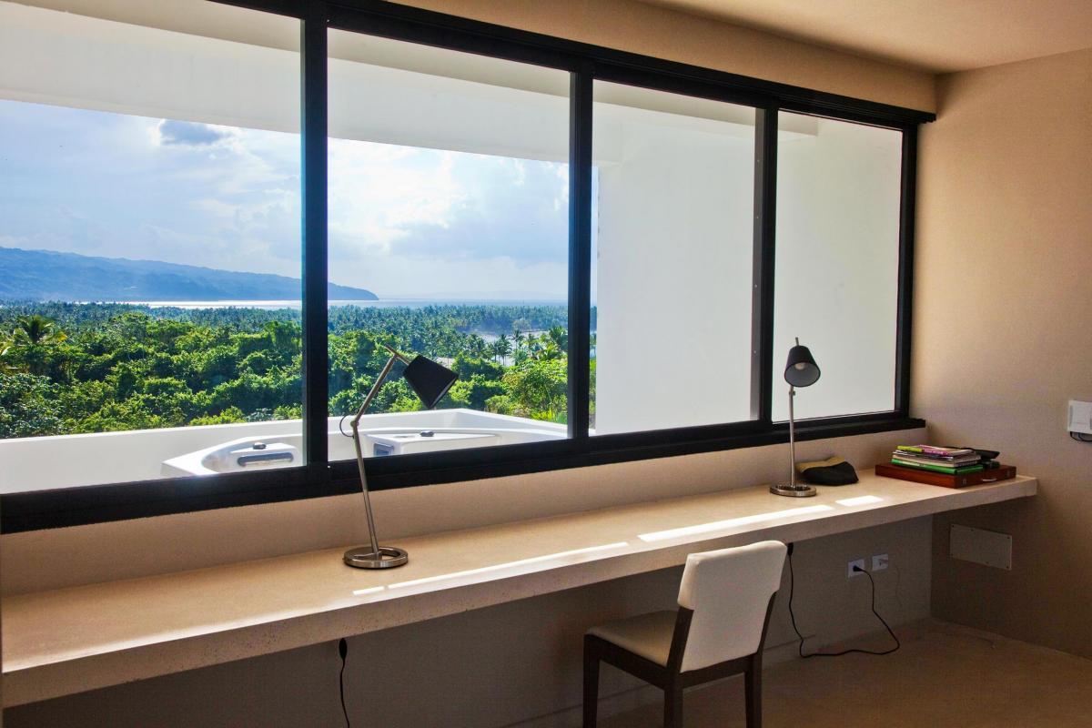 Location villa Las Terrenas - Le bureau de la suite de 80m² du niveau supérieur