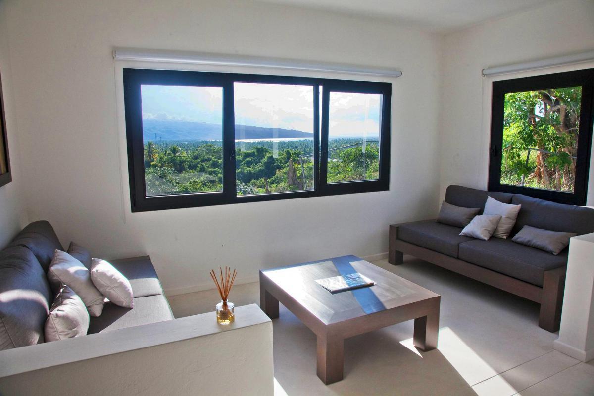 Location villa Las Terrenas - Le salon de la suite du niveau supérieur