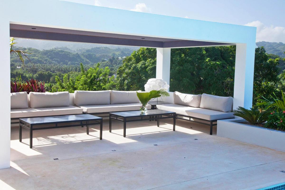 Location villa Las Terrenas - Le salon exterieur