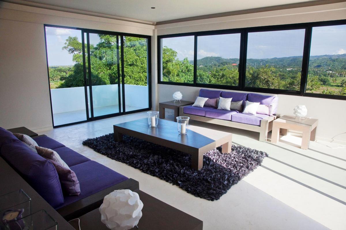 Location villa Las Terrenas - Le salon