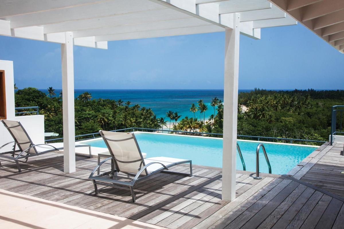 Location villa Las Terrenas - La piscine de la chambre 1