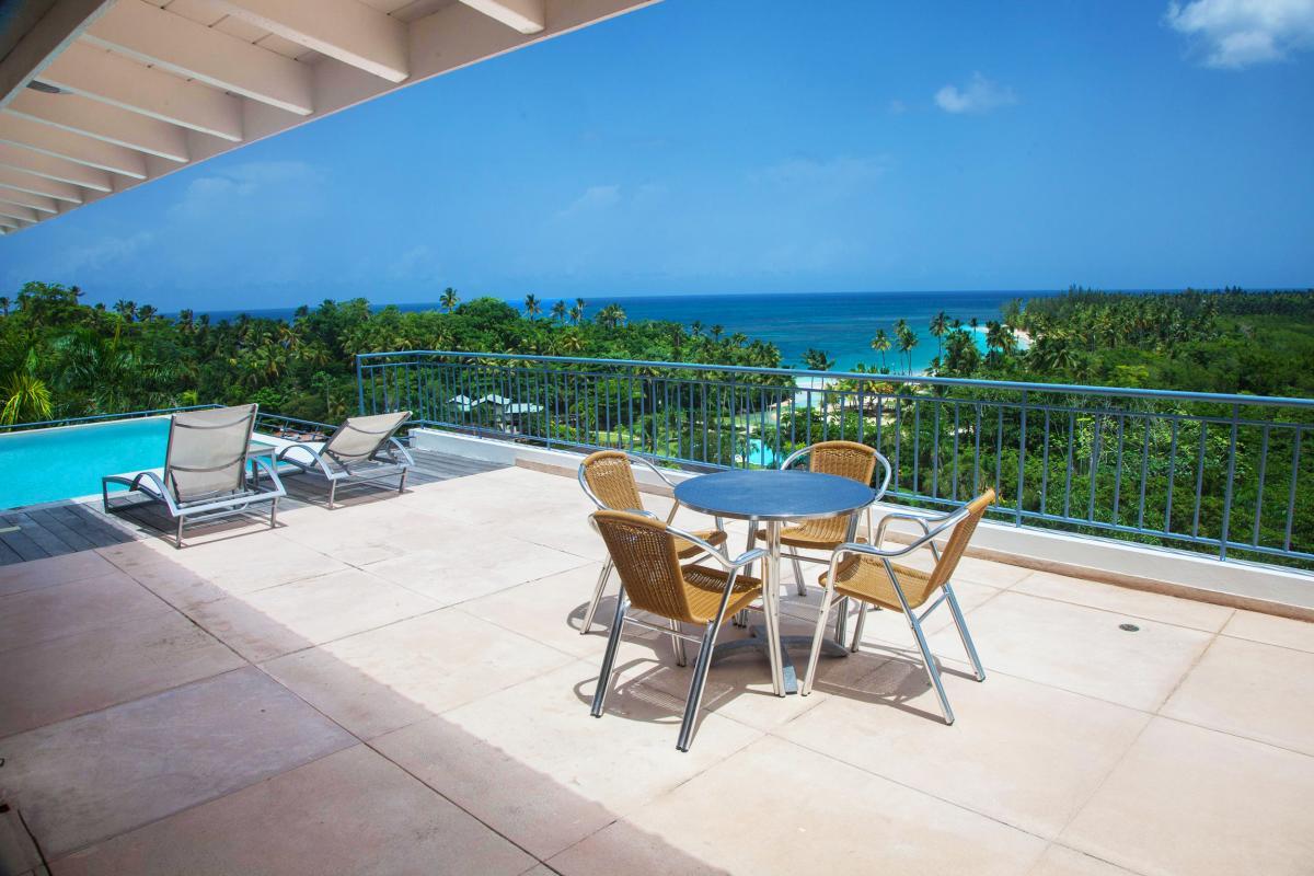 Location villa Las Terrenas - La terrasse de la chambre 1
