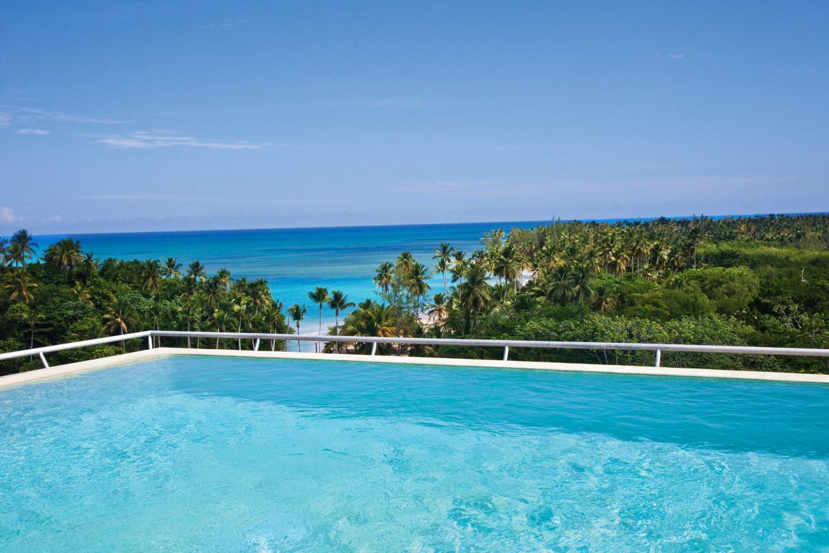 Location villa Las Terrenas - La vue de la piscine de la chambre 1