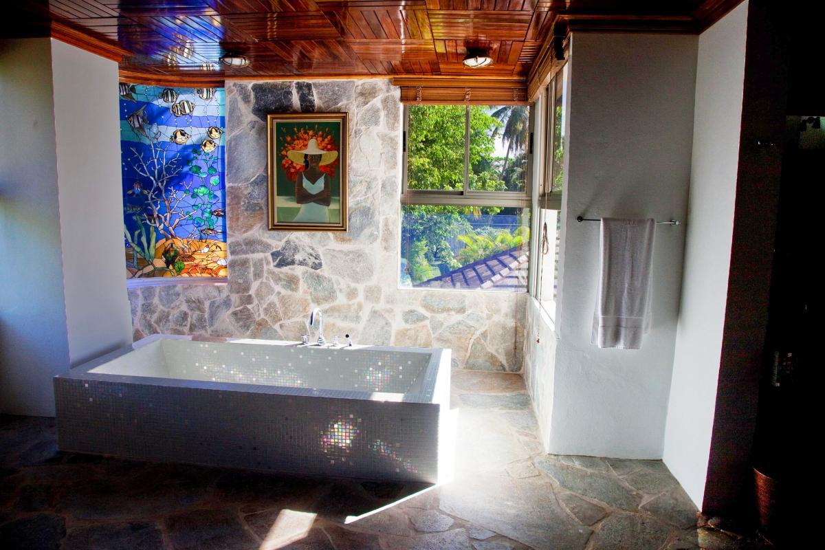 Location villa Las Terrenas - La salle de bain de la Suite