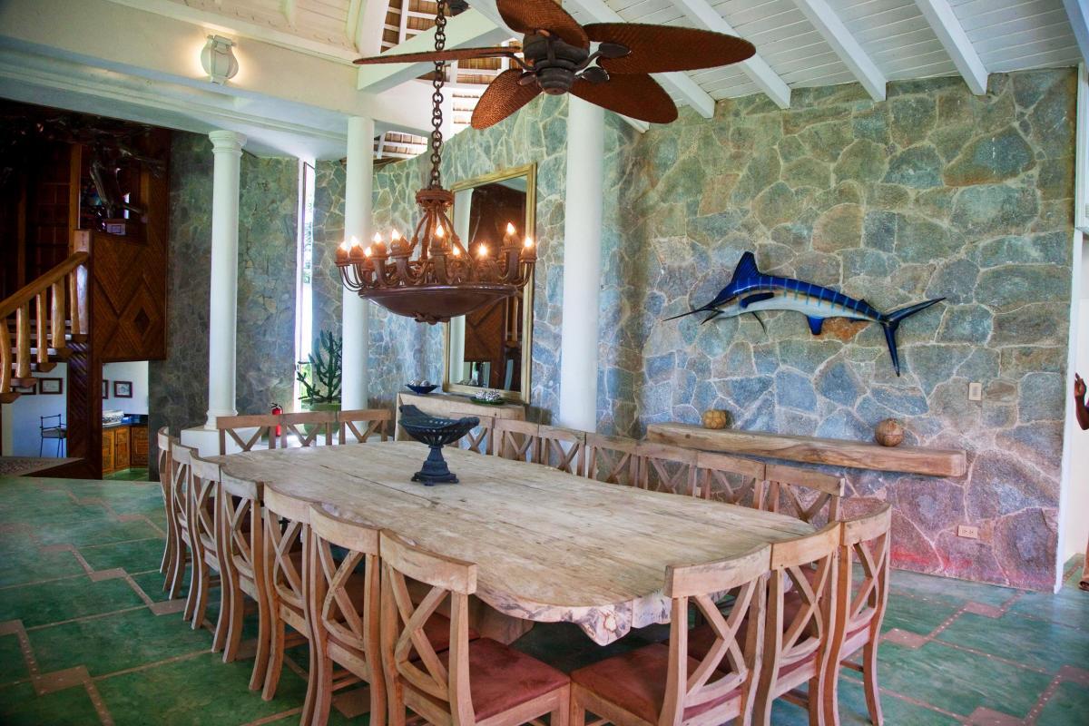 Location villa Las Terrenas - Le coin repas