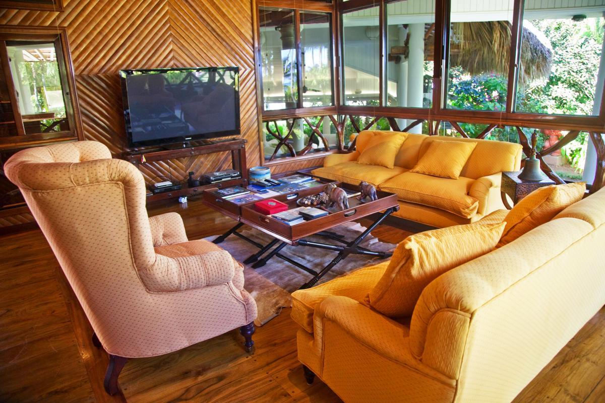 Location villa Las Terrenas - Le coin salon de la Suite