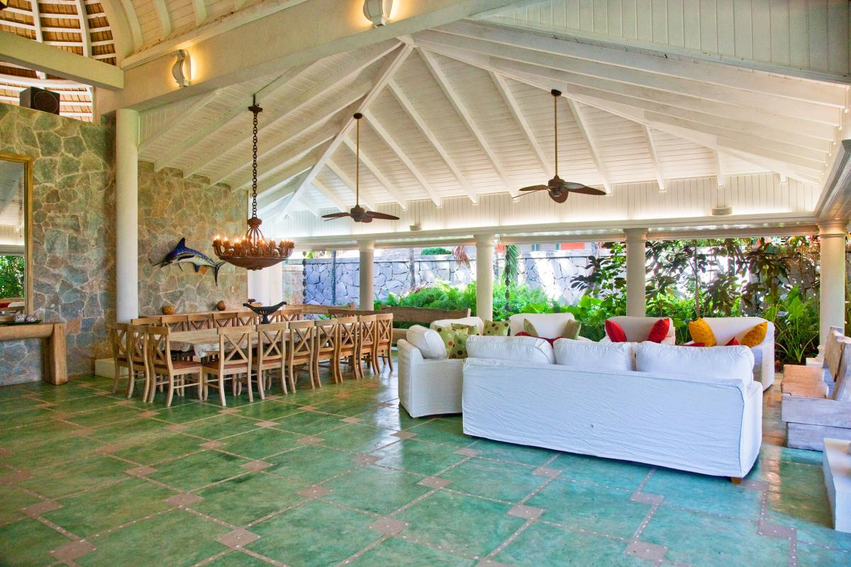 Location villa Las Terrenas - Le séjour